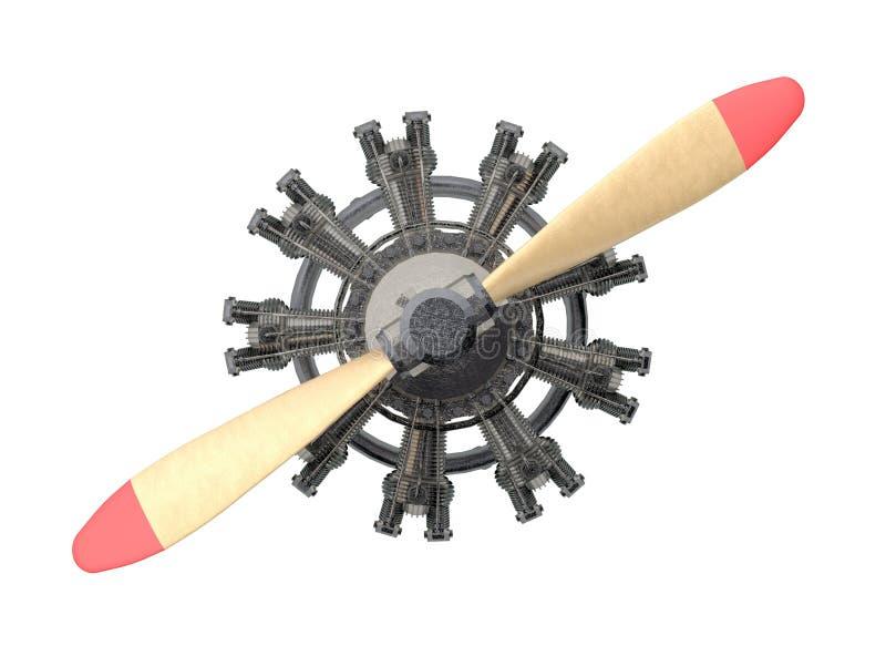 Avion radial de véhicule d'isolement sur le blanc illustration de vecteur