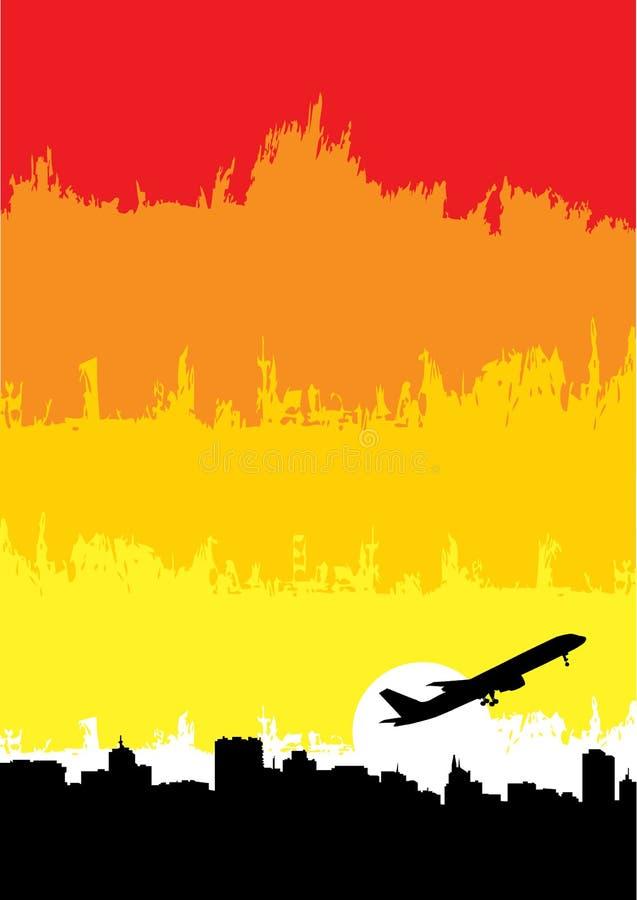 Avion sur la ville illustration libre de droits