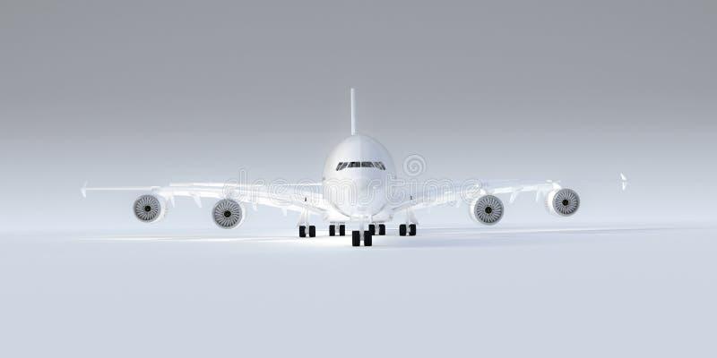 Avion sur le blanc illustration libre de droits