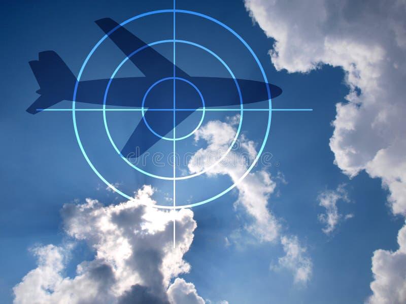 Avion sur le ciel dramatique image stock