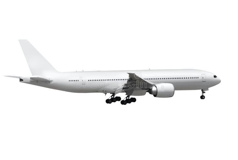 Avion sur le fond blanc photographie stock