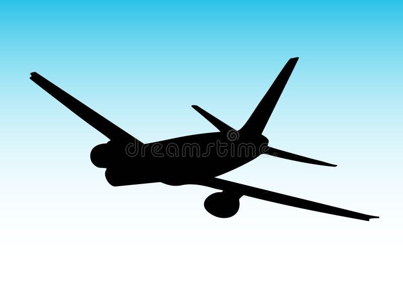 Avion tournant à droite illustration stock