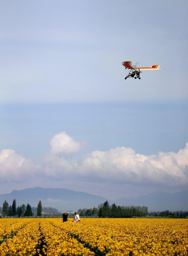 Avion ultra-léger image libre de droits