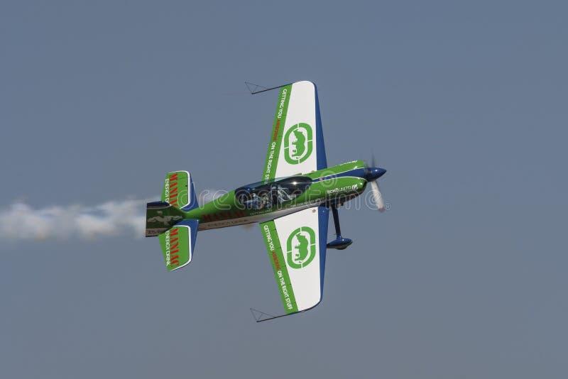 Aviones aeroacrobacias de Sbach en filo fotografía de archivo libre de regalías