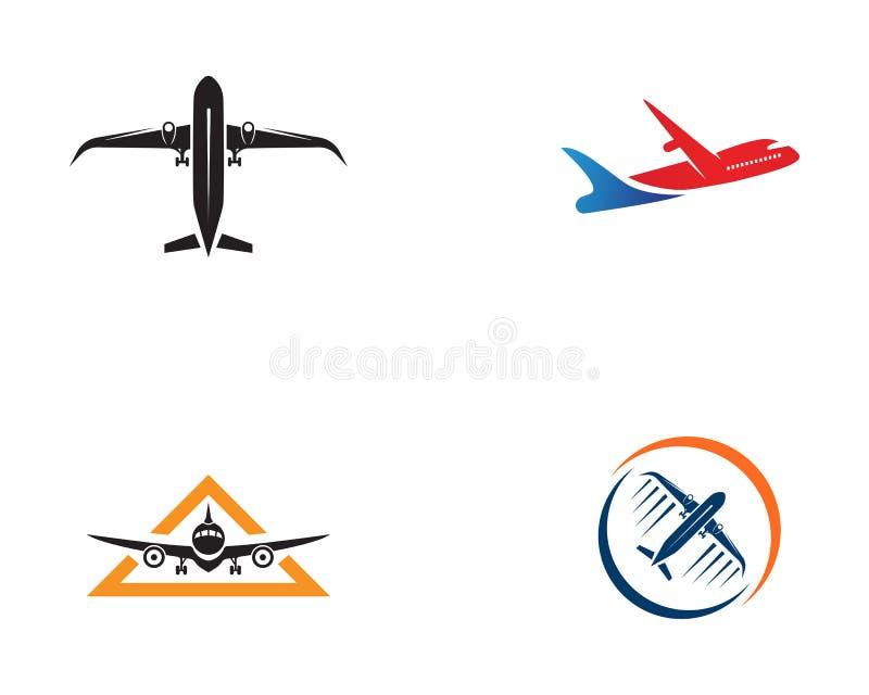 Aviones, aeroplano, etiqueta del logotipo de la línea aérea Viaje, transporte aéreo, aire stock de ilustración