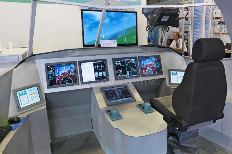 Aviones anticipados del control de información fotografía de archivo