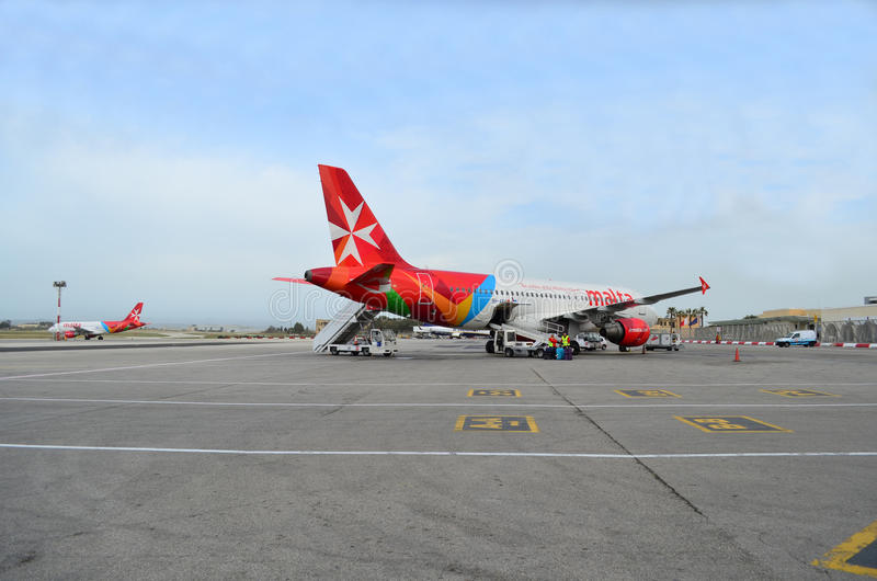 Aviones de Airmalta imagen de archivo