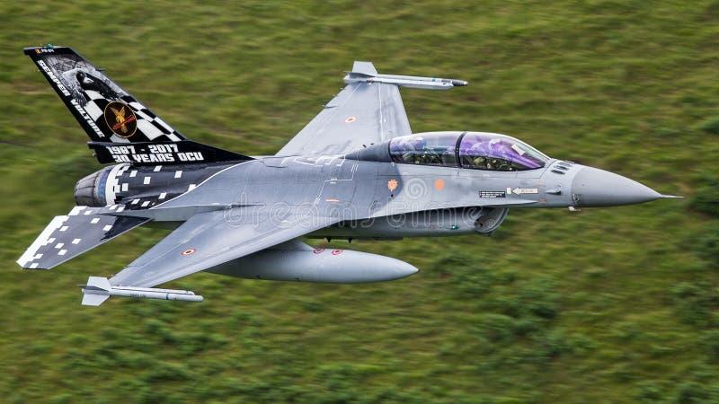 Aviones de avión de combate F-16 fotografía de archivo