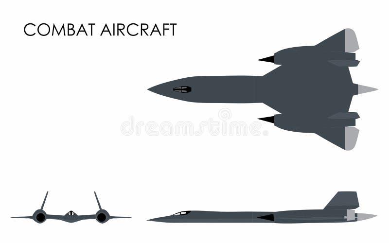 Aviones de combate coloreados ilustración del vector