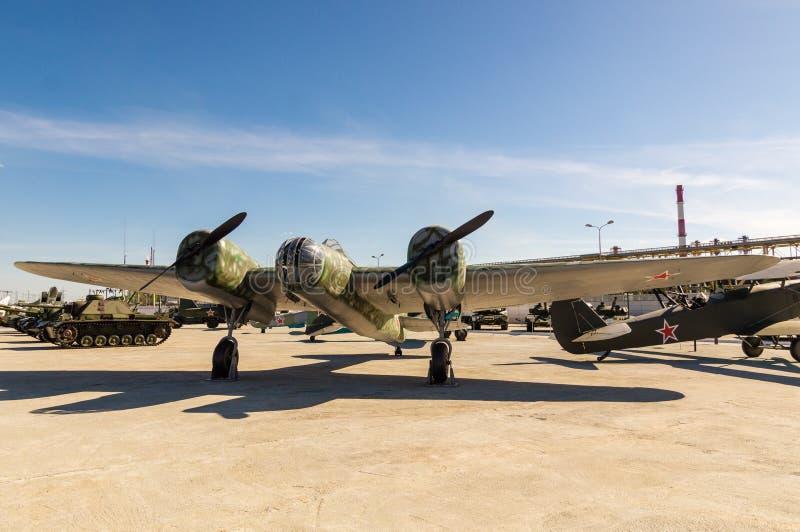 Aviones de combate soviéticos, un objeto expuesto del museo militar-histórico, Ekaterinburg, Rusia, fotos de archivo
