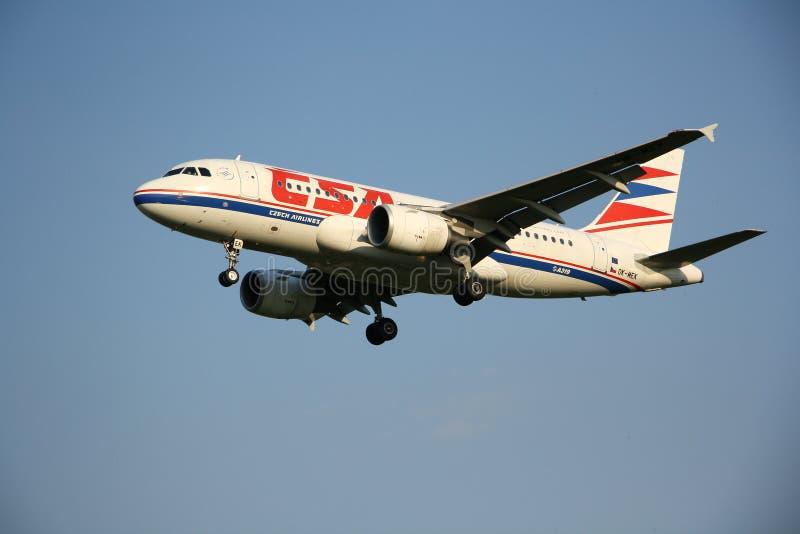Aviones de CSA Czech Airlines imagen de archivo libre de regalías