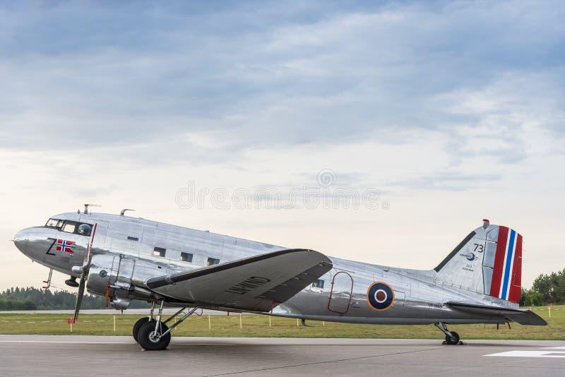Aviones de Douglas C-53D Skytrooper fotos de archivo