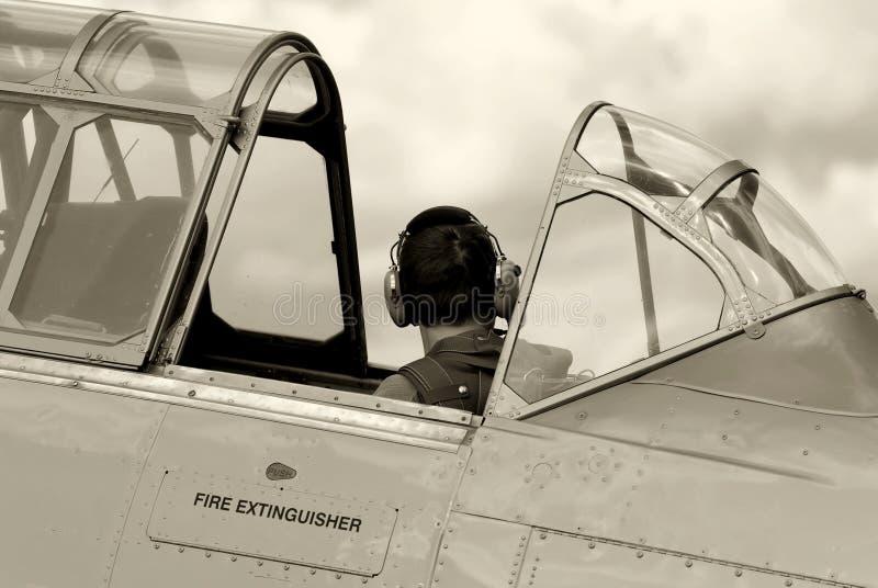 Aviones de entrenamiento del combatiente de la vendimia foto de archivo libre de regalías