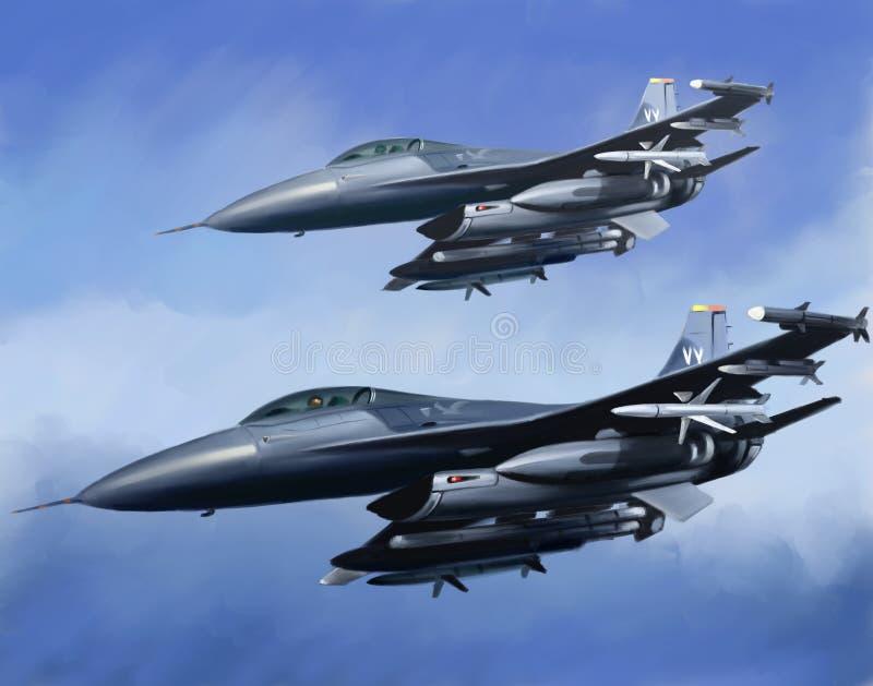 Aviones de la fuerza aérea de los E.E.U.U. ilustración del vector
