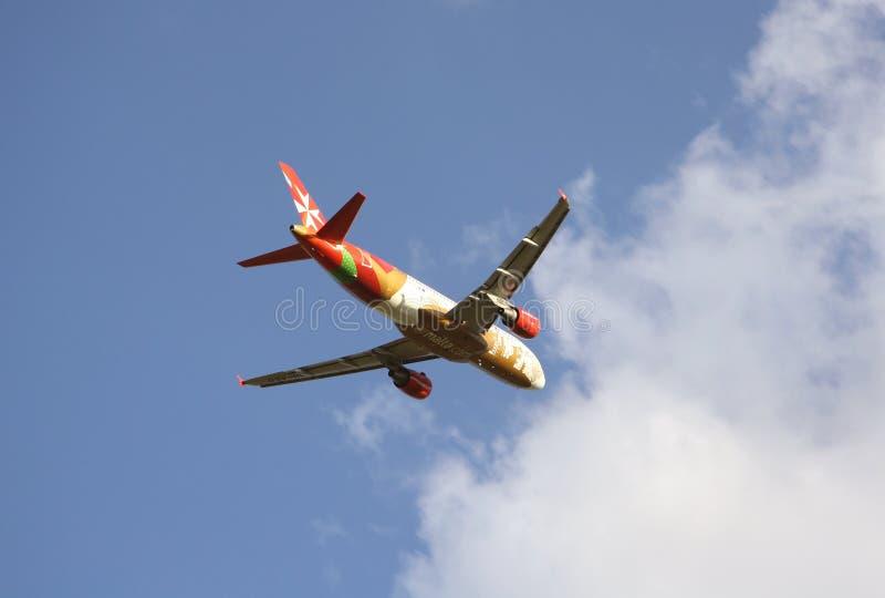 Aviones de las líneas aéreas de Malta del aire imagen de archivo