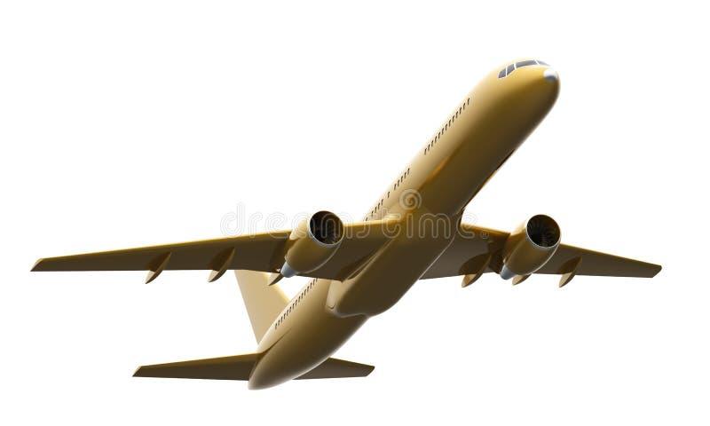Aviones de oro de Boeing 757 ilustración del vector