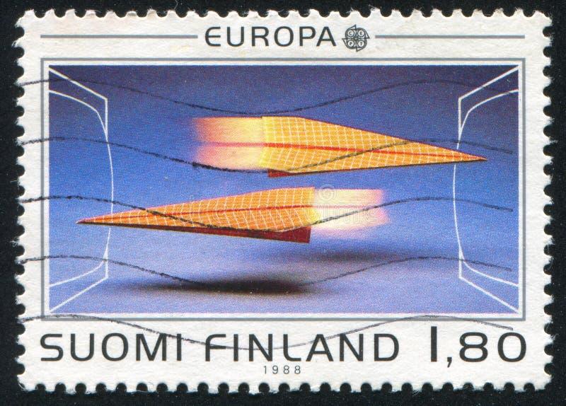 Aviones de papel imagen de archivo libre de regalías