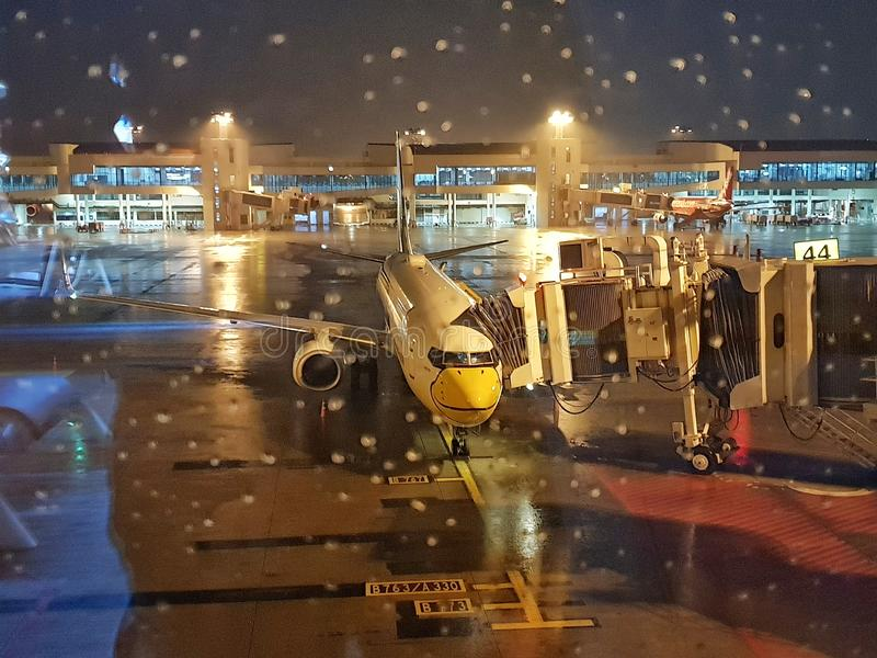 Aviones de pasajero foto de archivo