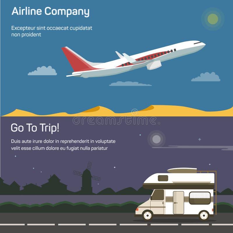 Aviones del aeroplano o de jet, avión, Airbus, avión del pasajero en cielo ilustración del vector