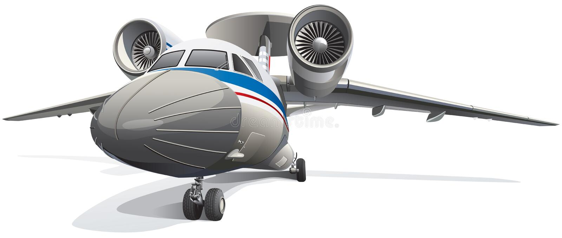 Aviones del AWACS stock de ilustración