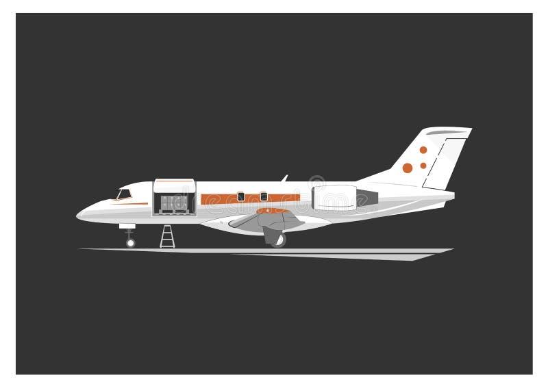 Aviones del cargo ilustración del vector