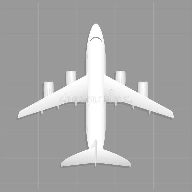 Aviones del cargo Visión superior libre illustration