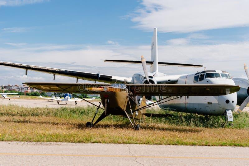 Aviones del crucero del ejército del gaitero L-14 durante salón aeronáutico imágenes de archivo libres de regalías
