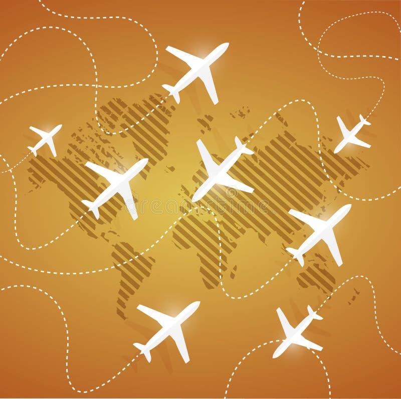 aviones del vuelo en diversas direcciones libre illustration