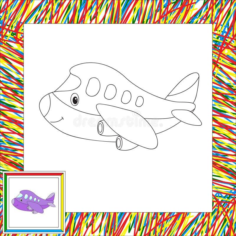 Aviones Divertidos De La Historieta Libro De Colorear Para Los Niños ...