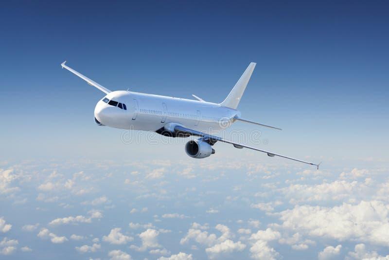 Aviones en el cielo imagen de archivo