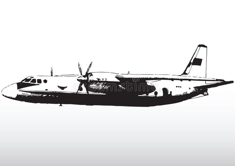 Aviones en vuelo stock de ilustración
