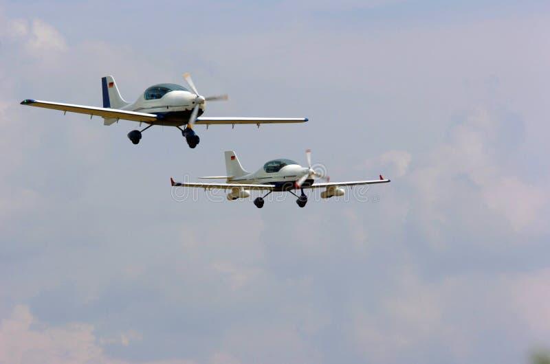 Aviones ligeros foto de archivo
