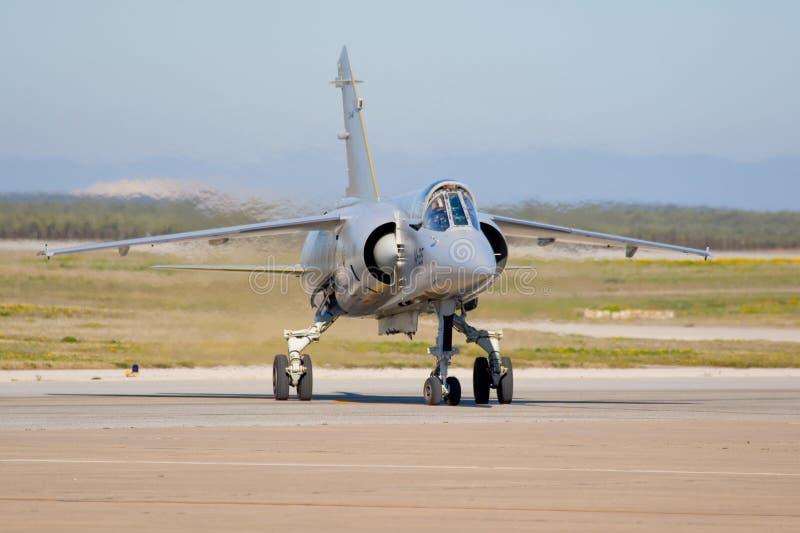 Aviones militares de la fuerza aérea española imagenes de archivo