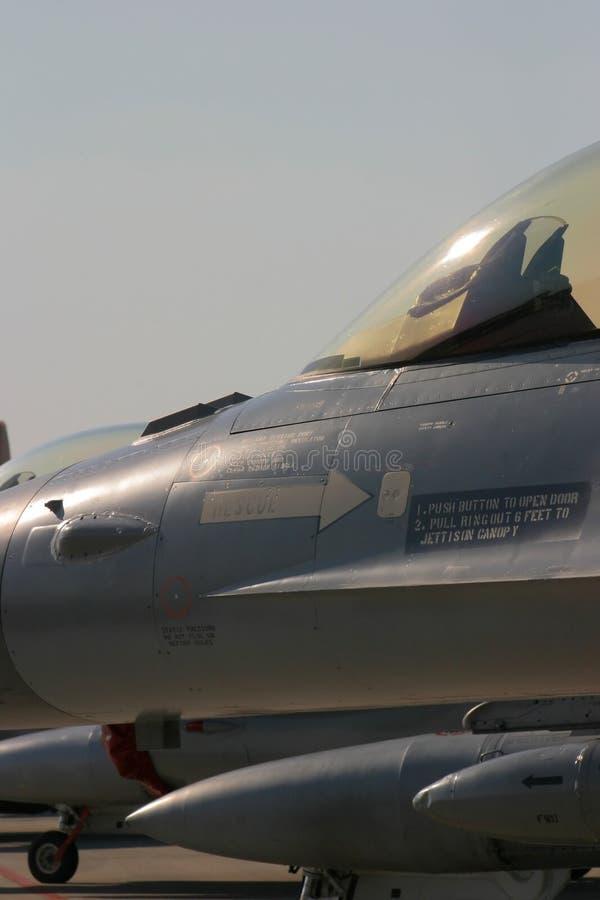 Aviones militares del halcón de la lucha F-16 foto de archivo