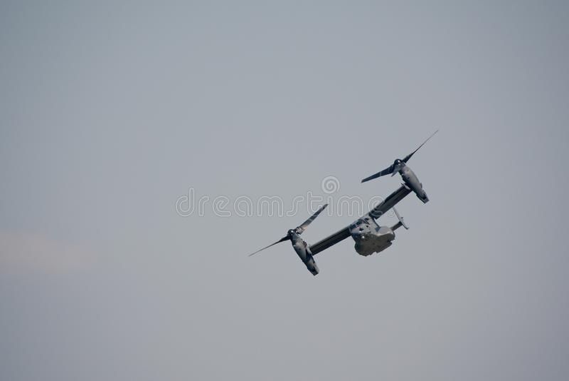 Aviones militares Tiltrotor foto de archivo