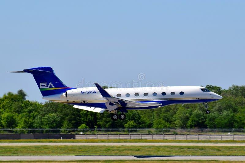 Aviones privados Gulfstream G650 fotos de archivo libres de regalías