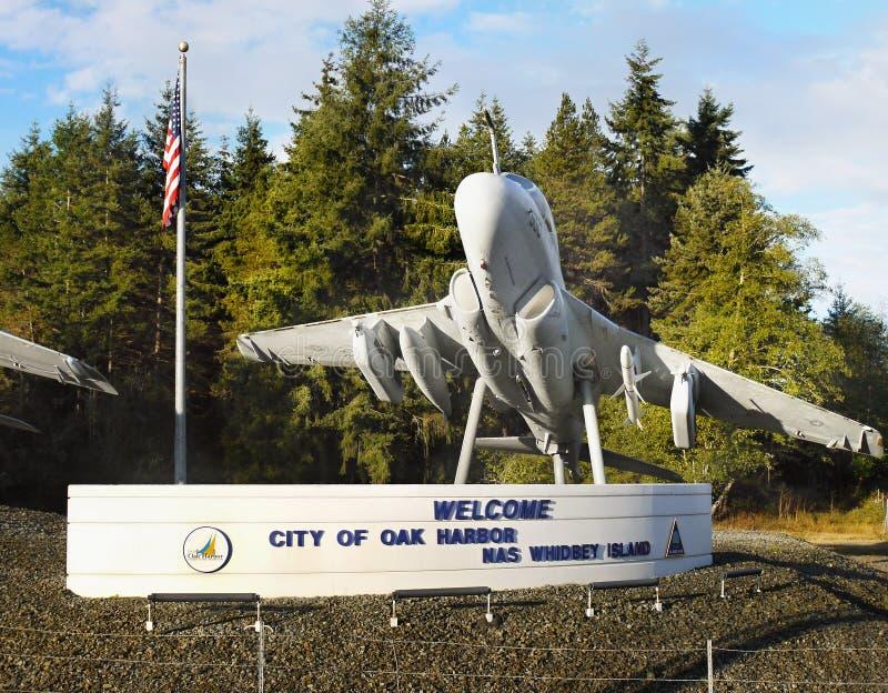 Aviones, puerto del roble, isla de Whidbey, Washington fotos de archivo libres de regalías
