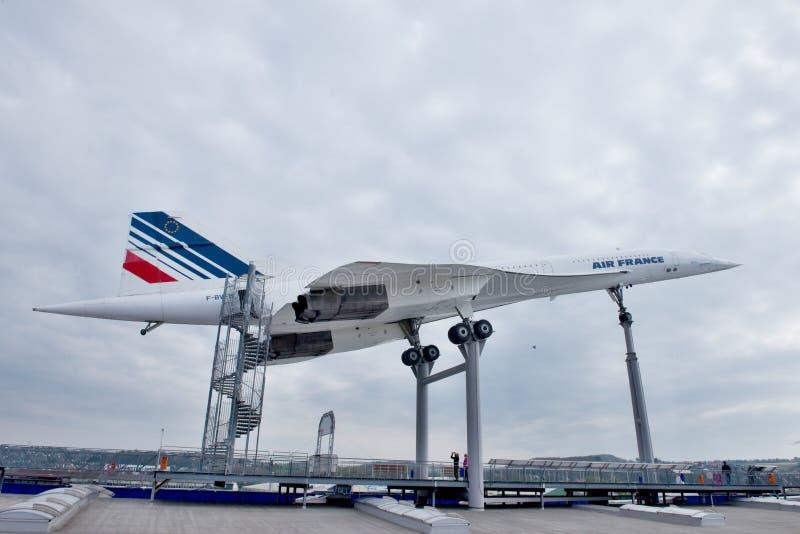 Aviones supersónicos Concorde imagenes de archivo