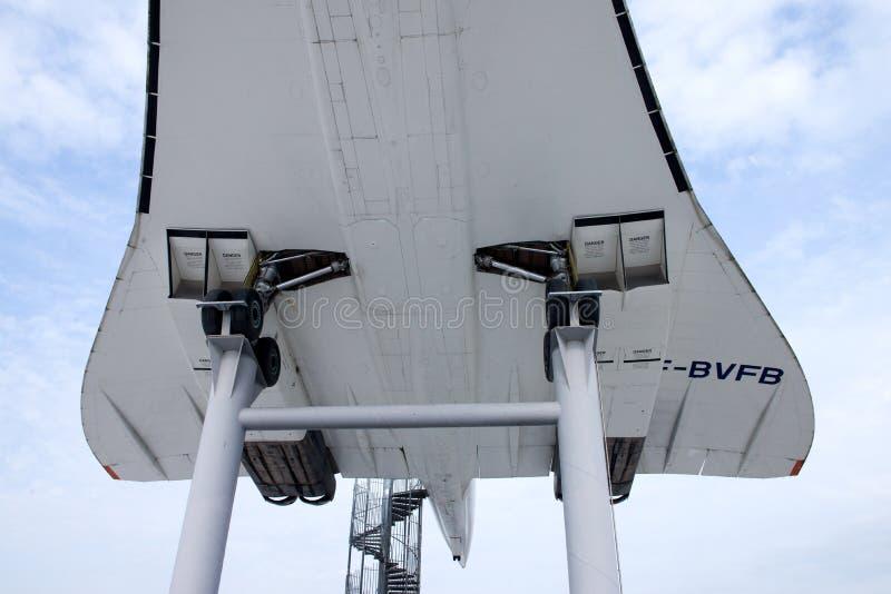 Aviones supersónicos Concorde foto de archivo libre de regalías