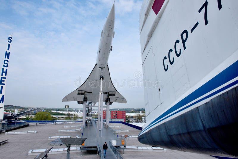Aviones supersónicos Concorde fotografía de archivo libre de regalías