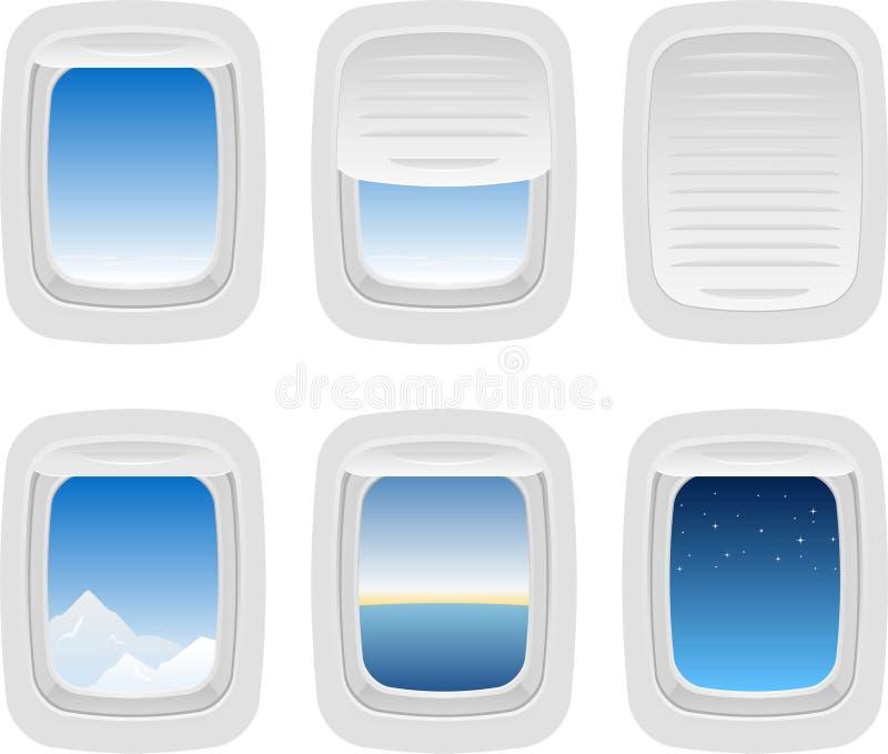 Aviones Windows stock de ilustración