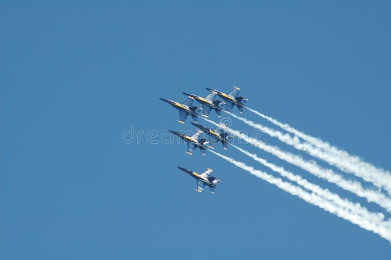 Avions à réaction à une fête aérienne.   image libre de droits