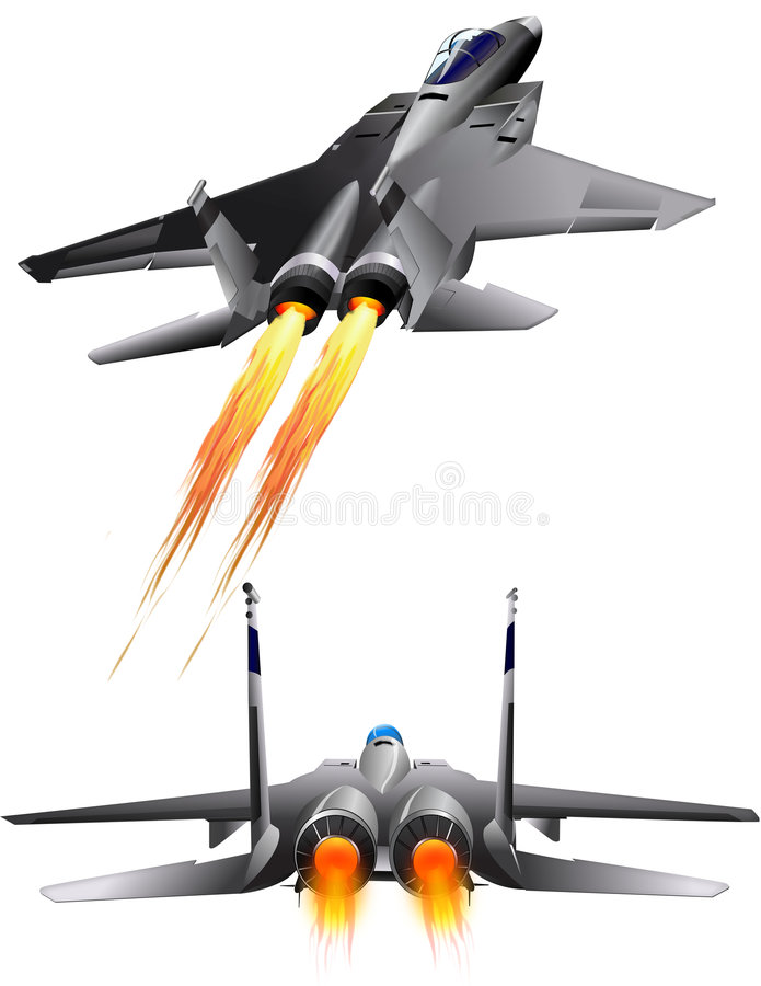 Avions à réaction F-14 illustration libre de droits