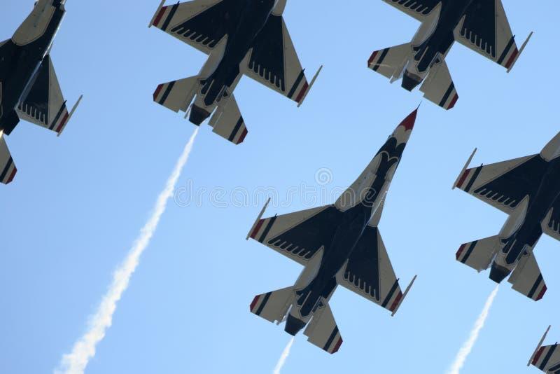 Avions à un airshow national photographie stock libre de droits