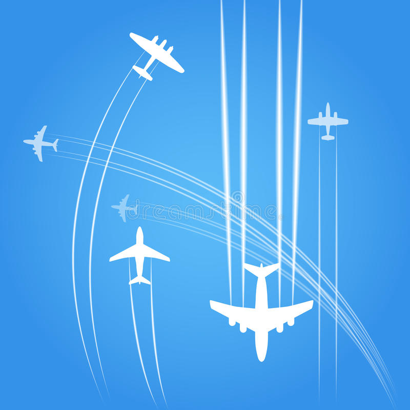 Avions illustration stock