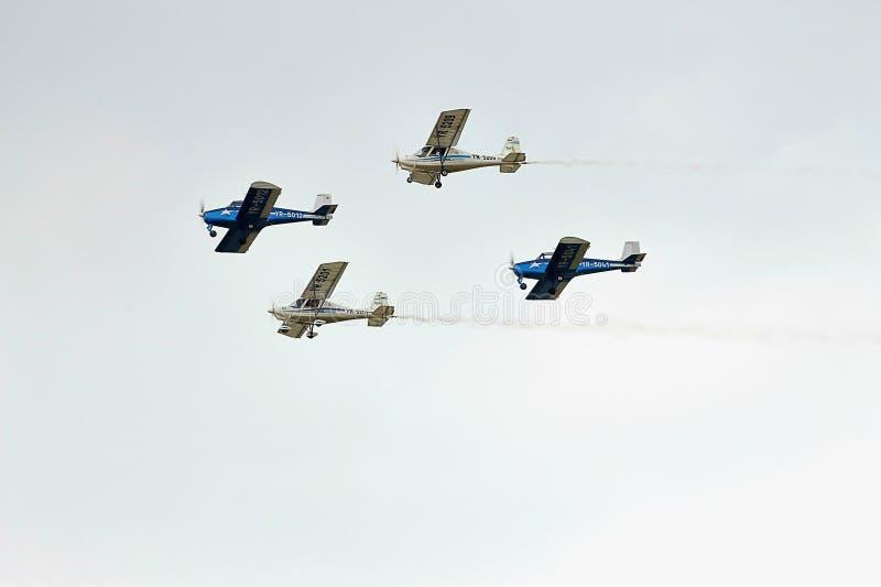 Avions acrobatiques de l'insulaire BN-2 à la POLARISATION 2015 photos stock