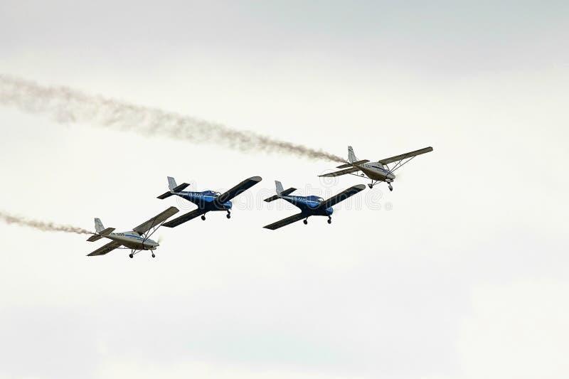 Avions acrobatiques de l'insulaire BN-2 à la POLARISATION 2015 image stock