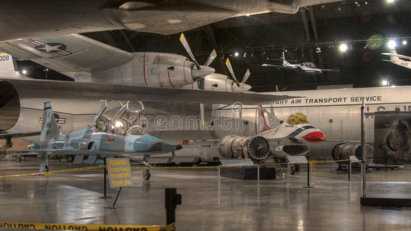 Avions au musée de l'U.S. Air Force, Dayton, Ohio images libres de droits