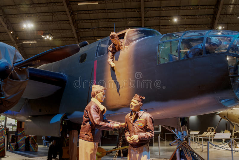 Avions au musée de l'U.S. Air Force, Dayton, Ohio image libre de droits