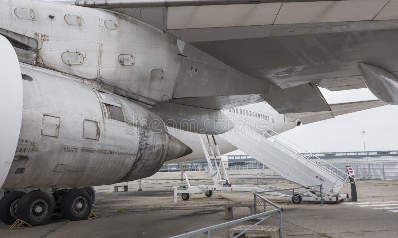 Avions Boeing 747 dans le musée de l'astronautique et de l'aviation image libre de droits